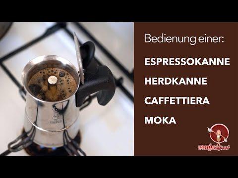 Anleitung für Espressokanne / Herdkanne