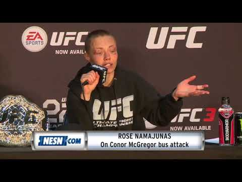 Rose Namajunas describes Conor McGregor bus attack incident
