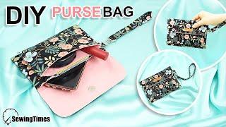 DIY SIMPLE PURSE BAG | Cute Envelope Clutch Bag Tutorial [sewingtimes]