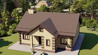 Проект дома 125-D, Площадь дома: 125 м2, Размер дома:  11,5x12 м