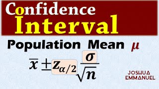 Confidence Interval for a population mean - σ known