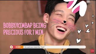 BOBBY/KIMBAP BEING PRECIOUS ASF FOR 7 MIN /TRY NOT TO SMILE