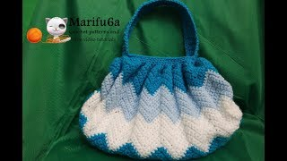 How to crochet zigzag purse bag free tutorial