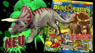 Schleich ® Roaaarr! Dinosaurs Magazin 24 !!! Neu !!! mit Triceratops - Unboxing & Review