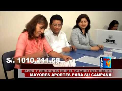 APRA y Peruanos por el Kambio recibieron mayores aportes para su campaña