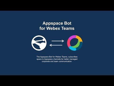 Webex App Hub: Appspace