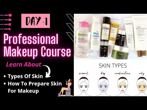 DAY 1 | ❗ONLINE MAKEUP COURSE | SKIN TYPES & SKIN PREP |Complete SELF Professional Makeup Course