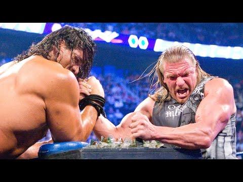 Triple H battles The Great Khali in Indian Broken Glass Arm Wrestling match: SmackDown, Aug.8, 2008
