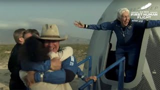 video: Jeff Bezos space flight: Blue Origin lands as Amazon founder returns from stellar voyage