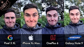 Pixel 3 XL vs iPhone Xs Max vs OnePlus 6 vs Samsung Galaxy Note 9! | CAMERA Comparison Test Review!