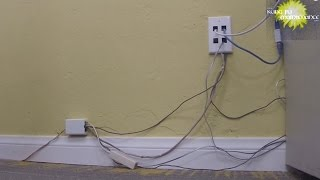 How To Hide Wiring Cable Ethernet Telephone Wires Extension Cords For Professional Install Nice Kit