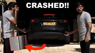 Watch my Model X crash itself into a fridge... Tesla Summon Model 3 / X FAIL