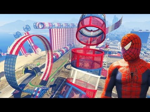 Download SPIDERMAN'S ULTIMATE STUNT PARK! (GTA 5 Funny Moments) Cunning Stunts DLC HD Mp4 3GP Video and MP3