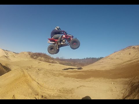 TRX450R and YZ125 Sand Pit