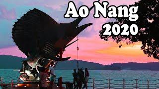 Ao Nang Krabi Thailand, May 2020. Ao Nang in Low Season. Krabi Food