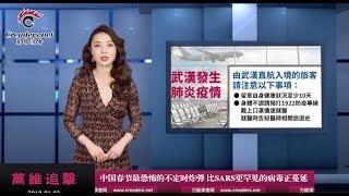 """中国春节最恐怖的""""不定时炸弹""""正蔓延(《万维追击》20200103-01 S2TCC)"""