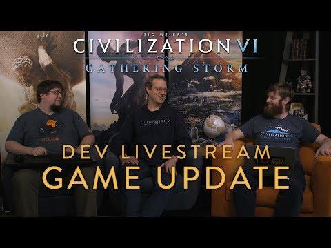 Civilization VI: Gathering Storm - Antarctic Late Summer Game Update Dev Livestream (VOD)