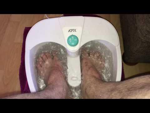 Fußbad nehmen Fussmassagegerät Fussmassage Fusssprudelbad Massagegerät mit warmen Wasser Anleitung