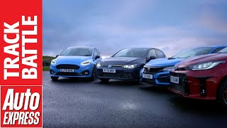 Toyota Yaris GR vs Ford Fiesta ST Edition vs Honda Civic Type R vs VW Golf GTI: Hot Hatch Shootout by Auto Express
