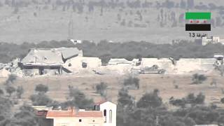 preview picture of video 'BGM-71 TOW direct hit on SAA T-62 by Al-Forqat 13'