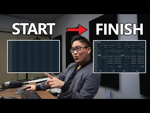 MAKING AN ENTIRE BEAT FROM START TO FINISH IN FL STUDIO! (Full Beatmaking Process)