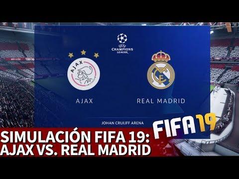 Ajax - Real Madrid | FIFA 19: simulación de la ida de las octavos de la Champions | Diario AS