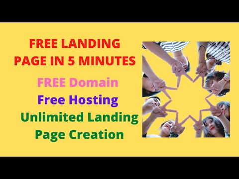 , title : 'Free Landing page ! How to create a landing page! How to make a landing page! Landing Page Tutorial!