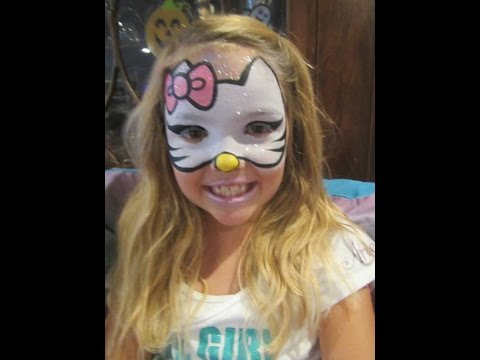 Maquillage Halloween Hello Kitty.Pintacaritas Hello Kitty Face Painting смотреть онлайн на Hah Life
