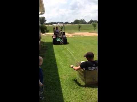 Yeti cooler box + golf cart = redneck fun