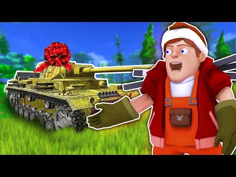 ПОДАРОК - СУПЕР ТАНК!!! Открытие подарков в Scrap Mechanic