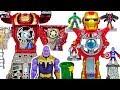 Marvel Avengers Iron Man Headquarters vs Hulkbuster Ultimate transform HQ Thanos DuDuPopTOY