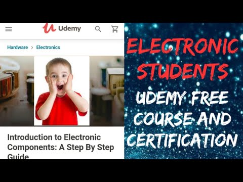 Udemy Free course and certification for electronic engineers ...
