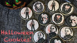 Halloween Cookies | Horror Movie Character Cookies