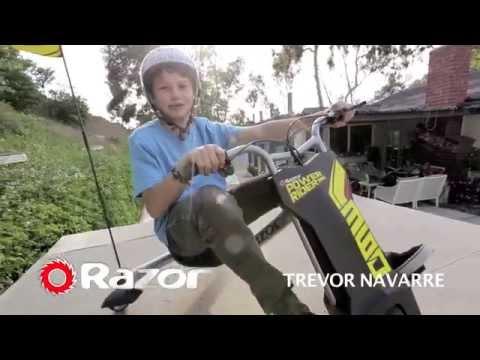 Biểu diễn xe điện 3 bánh trẻ em Drift Razor