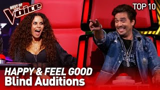 TOP 10 | UPLIFTING Blind Auditions that'll make you SMILE in The Voice