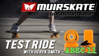 Test Ride Abec 11 Amber Freerides with Derek Smith | MuirSkate Longboard Shop