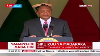 President Uhuru quotes founding fathers, Mboya, Jaramogi and Jomo Kenyatta in Madaraka day speech |