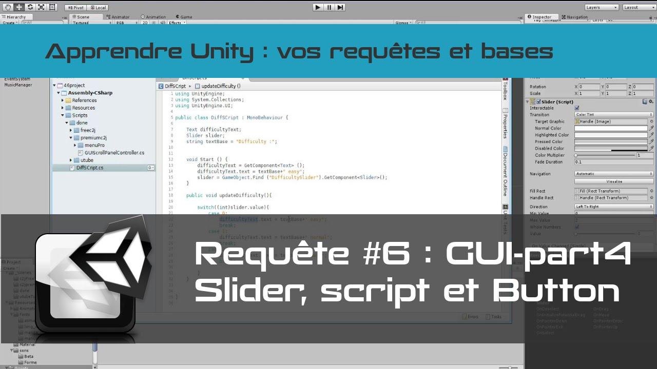 [tuto FR unity3d] GUI #4 - Button - Onclick