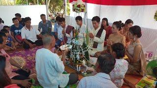 งานแต่งงานแบบลาว(ลาวอีสาน) บายสีสู่ขวัญ ผูกแขนเจ้าบ่าวเจ้าสาวแบบพื้นบ้าน