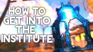 Fallout 4 How To Get Into The Institute! How To Build The Teleporter (Institute Location)