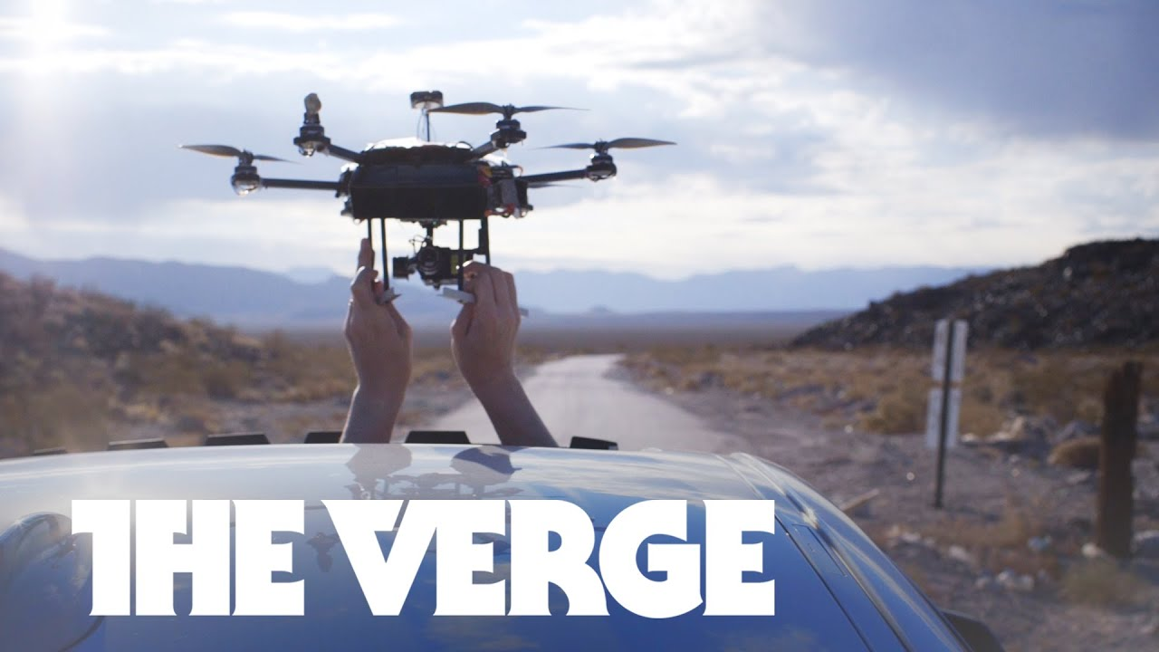 Car vs drone: a battle for the ages in the desert - CES 2015 thumbnail