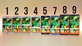 Samsung Galaxy Note 9 Vs 8 Vs 7 Vs 5 Vs 4 Vs 3 Vs 2 Vs 1   ULTIMATE COMPARISON!