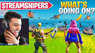 I Surprised My Random Duo With SHARK Streamsnipers! They Freaked Out! - Fortnite Season 3