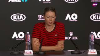 Maria Sharapova Press Conference | 2019 Australian Open First Round