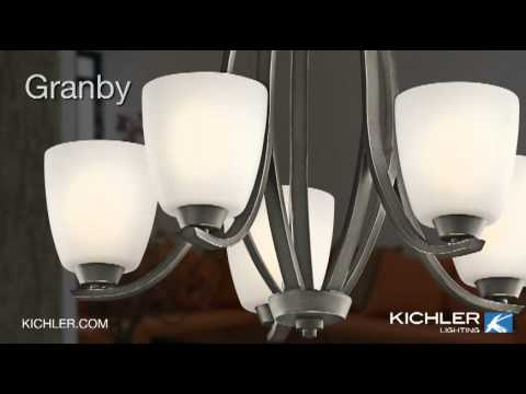Video for Granby Brushed Pewter Three-Light Inverted Pendant