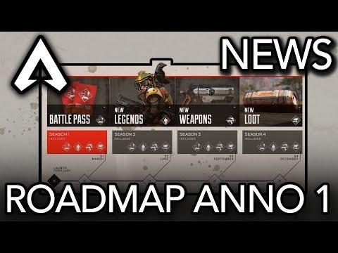 Apex Legends | News: Battle Pass, Nuove Leggende, Armi e Altro | Roadmap Anno 1