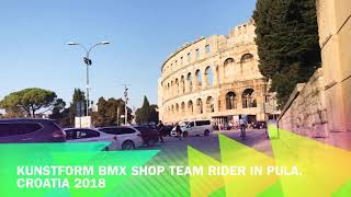 preview picture of video 'kunstform BMX Shop Team Rider Markus Schwital & John Krämer - Pula, Croatia 2018'