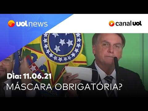 Bolsonaro defende fim do uso de máscaras e recebe críticas; entenda   UOL News Manhã (11/06/2021)