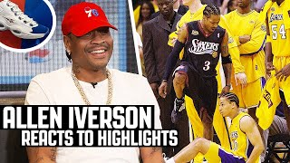 Allen Iverson Reacts To Allen Iverson Highlights!