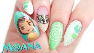 Disneys Moana Nail Art Design Tutorial